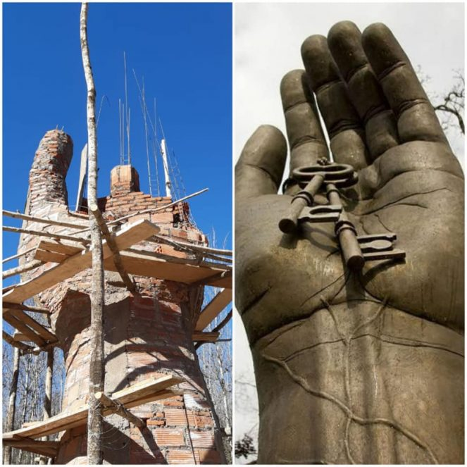 Escultura gigante en Villa Yacanto de Calamuchita