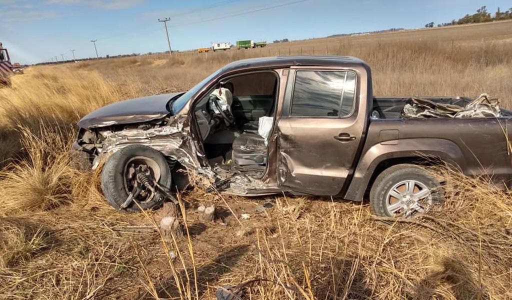 Chocaron dos camionetas en Huanchilla: un herido grave