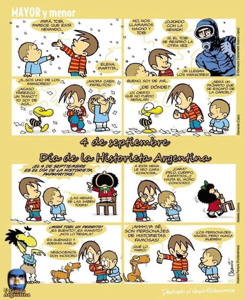 4 de septiembre se celebra el Día de la historieta argentina