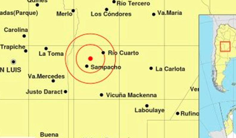 Rio Cuarto: un sismo de 3.3º desveló a la ciudad y región en la medianoche