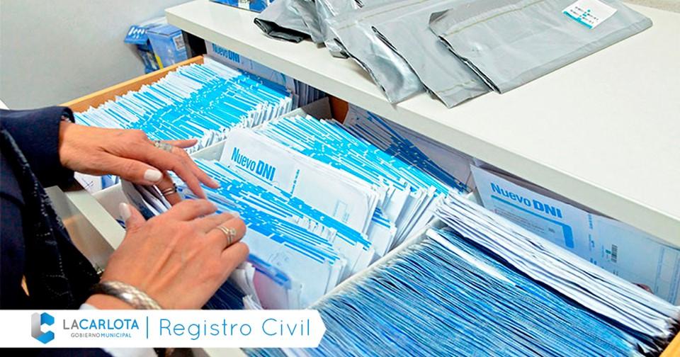 LA CARLOTA: llegaron nuevos DNI al Registro Civil
