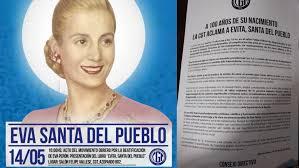 La CGT le pidió al Cardenal Poli iniciar el proceso para beatificar a Eva Perón