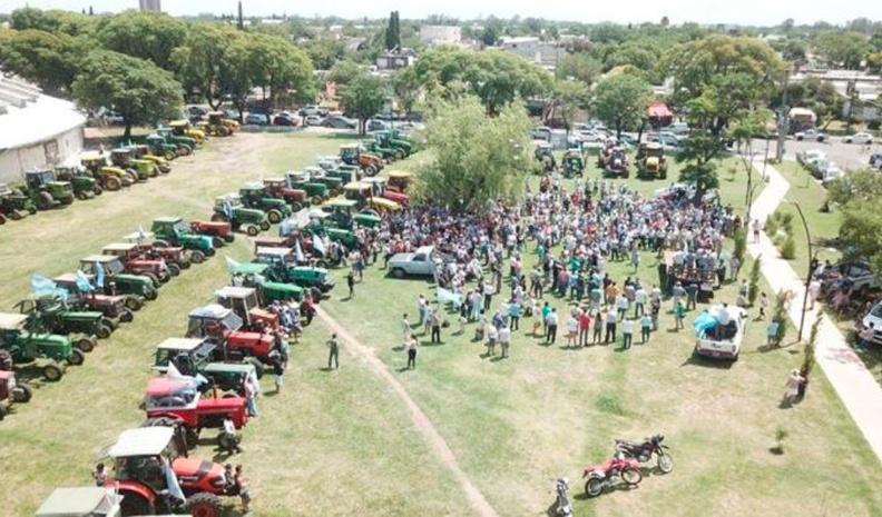 Tractorazo en Pergamino contra las retenciones y hoy será en Córdoba