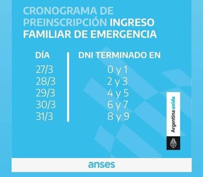 Ingreso Familiar De Emergencia: preinscripción para cobrar los 10 mil pesos de anses