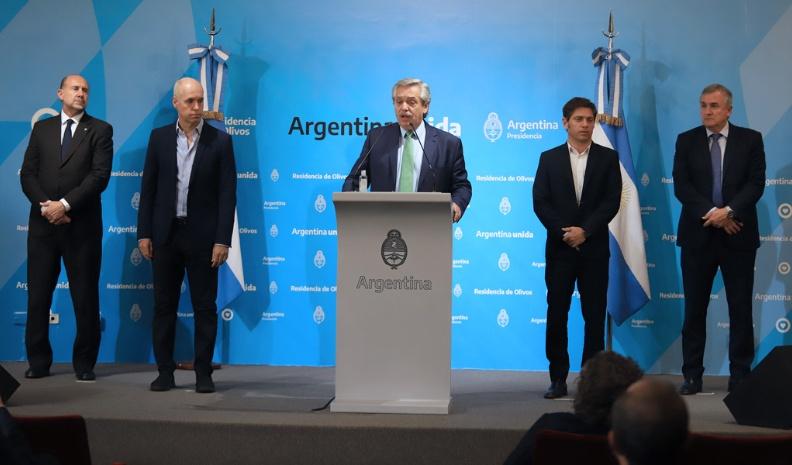 Alberto Fernández decretó el aislamiento social obligatorio