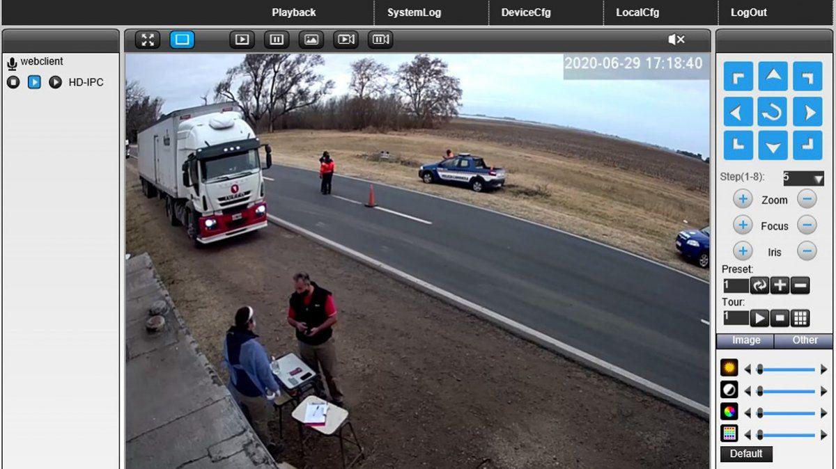 Arias instala una cámara en el control del límite provincial