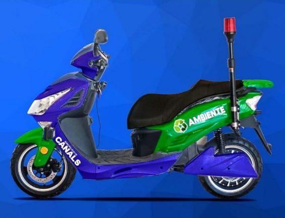 CANALS: municipio incorporó motos eléctricas a su parque automotor