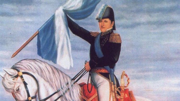 Homenaje a Manuel Belgrano.
