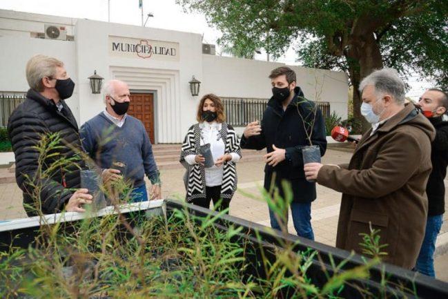 El Ente Regional de Desarrollo donó 200 árboles a la municipalidad de General Deheza