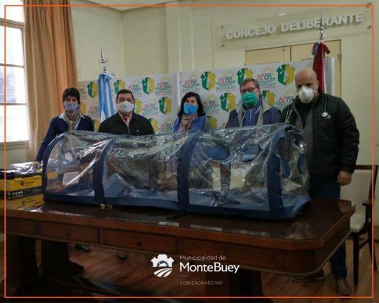 MONTE BUEY: donan cápsula de aislamiento para el traslado seguro de pacientes sospechosos de covid-19