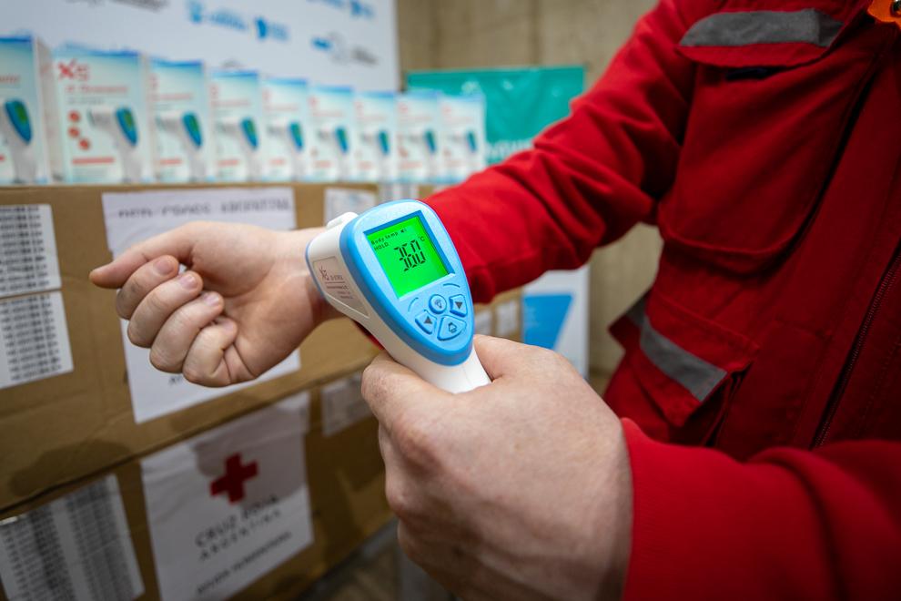Salud y el COE central recibieron 500 termómetros digitales