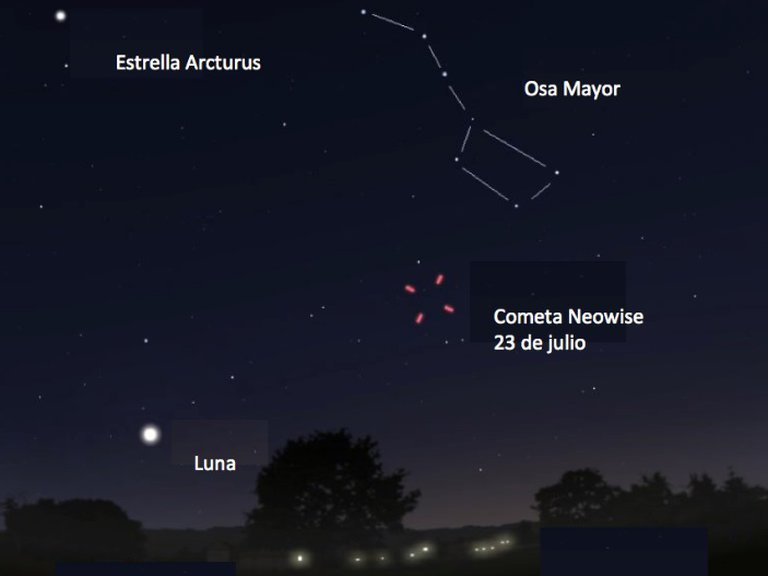 Cuándo y dónde se podrá ver el cometa Neowise en Argentina