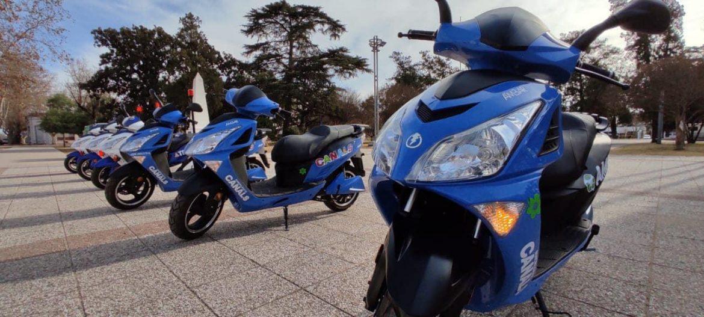 CANALS: presentaron las seis nuevas motos eléctricas municipales