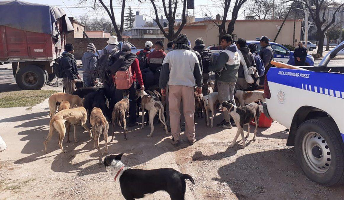 Eran 16 cazando en un campo de Leones: terminaron todos detenidos