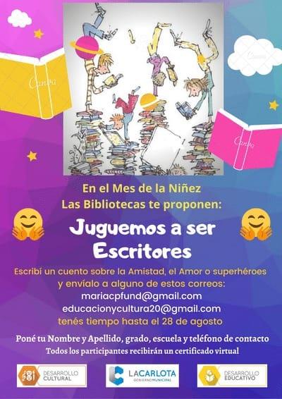 LA CARLOTA: actividad literaria para niños