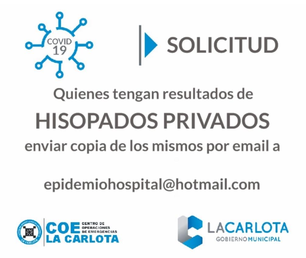 LA CARLOTA: solicitud de la Mesa de Epidemiología del Hospital San Antonio