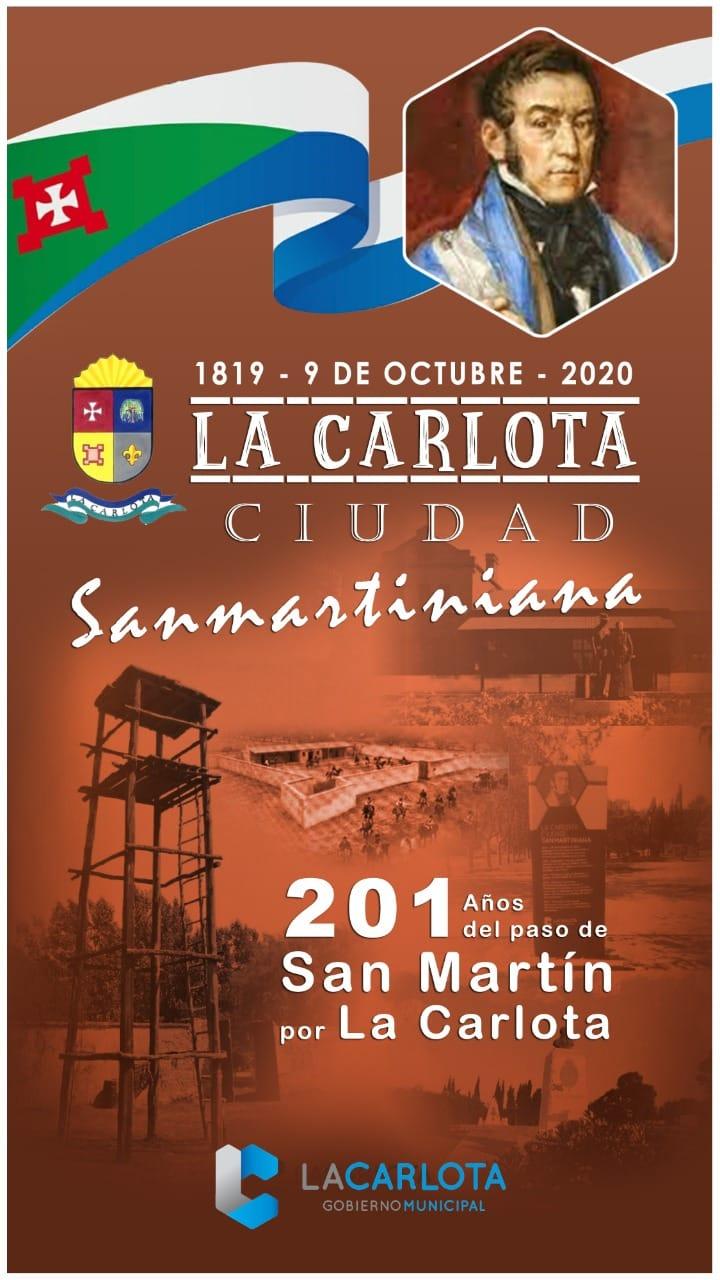 LA CARLOTA: 9 de octubre celebramos un nuevo aniversario del glorioso paso del Libertador Gral. José de San Martín por la ciudad