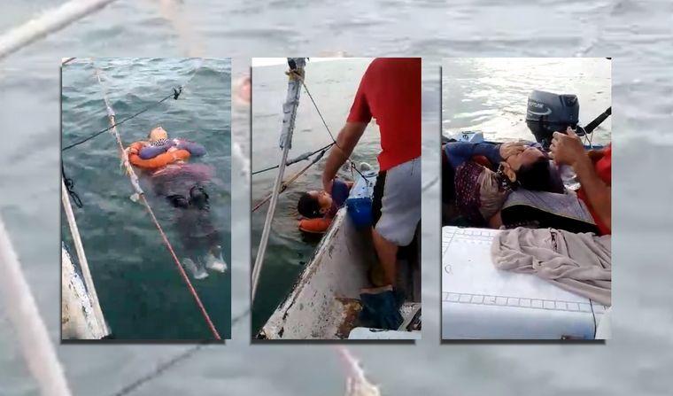Se perdió hace 2 años y apareció viva flotando en el mar