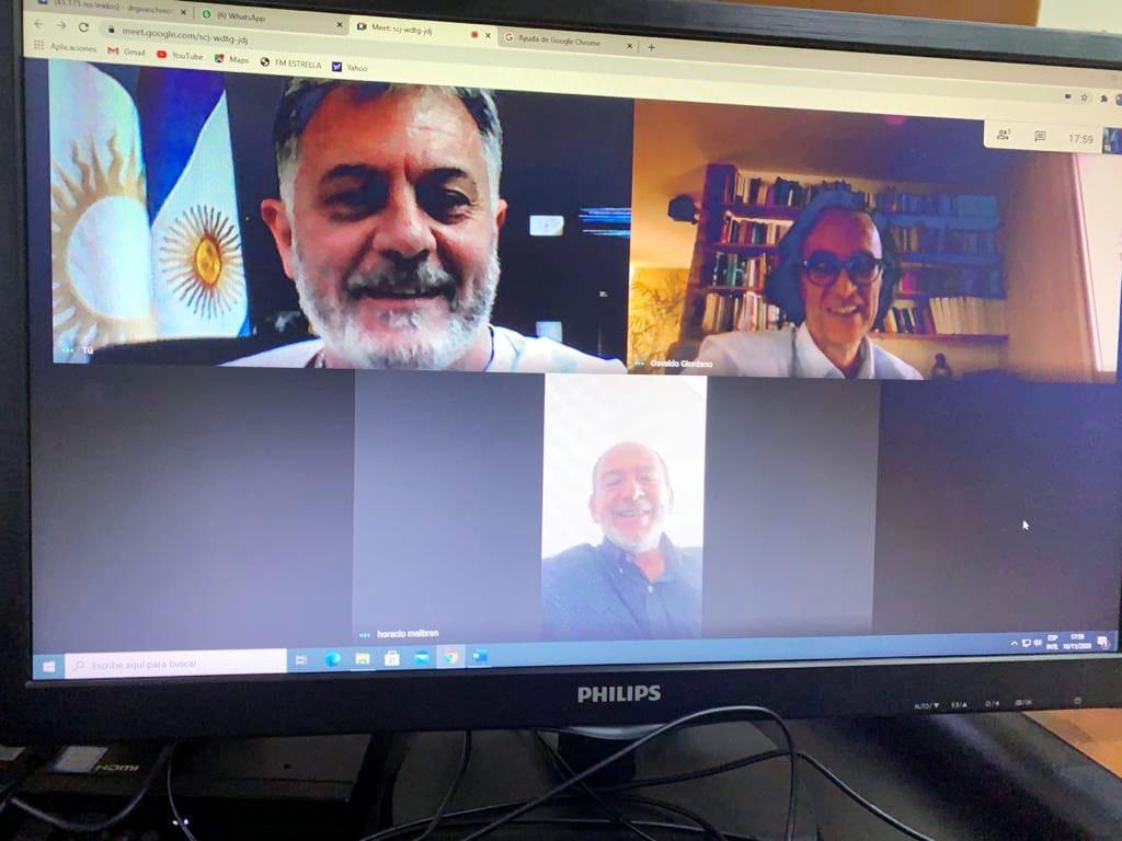 LA CARLOTA: Fabio Guaschino dialogo con Osvaldo Giordano y Horacio Malbrán, sobre  las actividades de Rentas