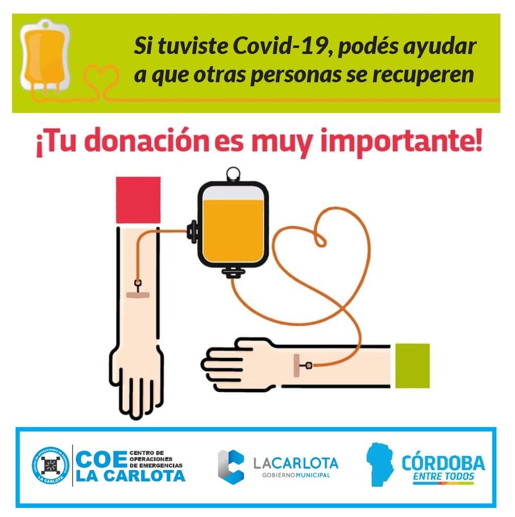 LA CARLOTA: donación de plasma