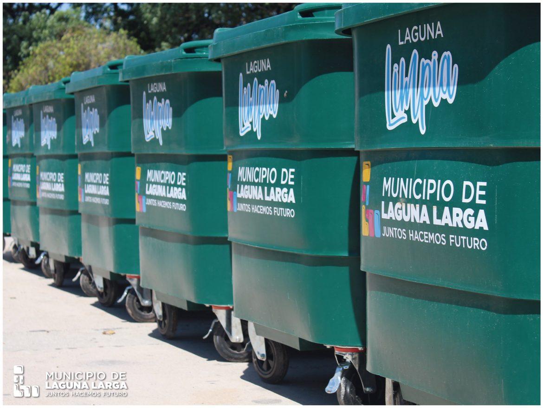 LAGUNA LARGA: instalan 15 grandes contenedores de residuos en diversas zonas