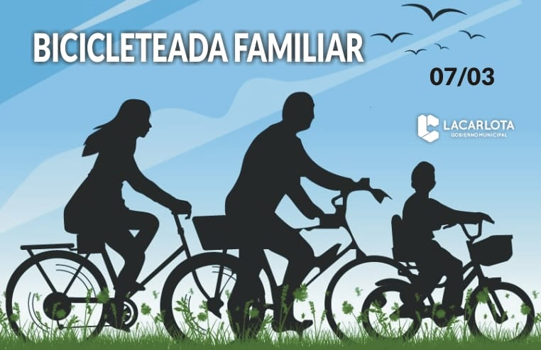 Bicicleteada en familia por el día de la mujer
