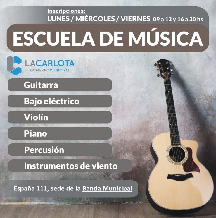El próximo lunes comienza la Escuela de Música en la Banda Municipal de La Carlota