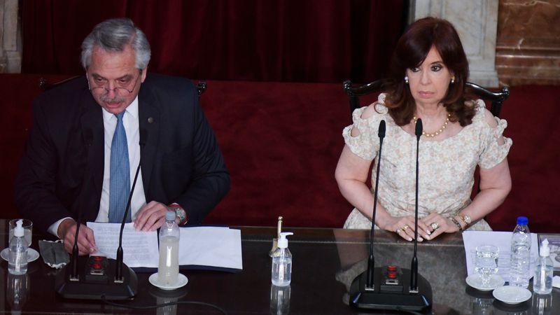 Alberto Fernández encabezó la inauguración de las sesiones del Congreso
