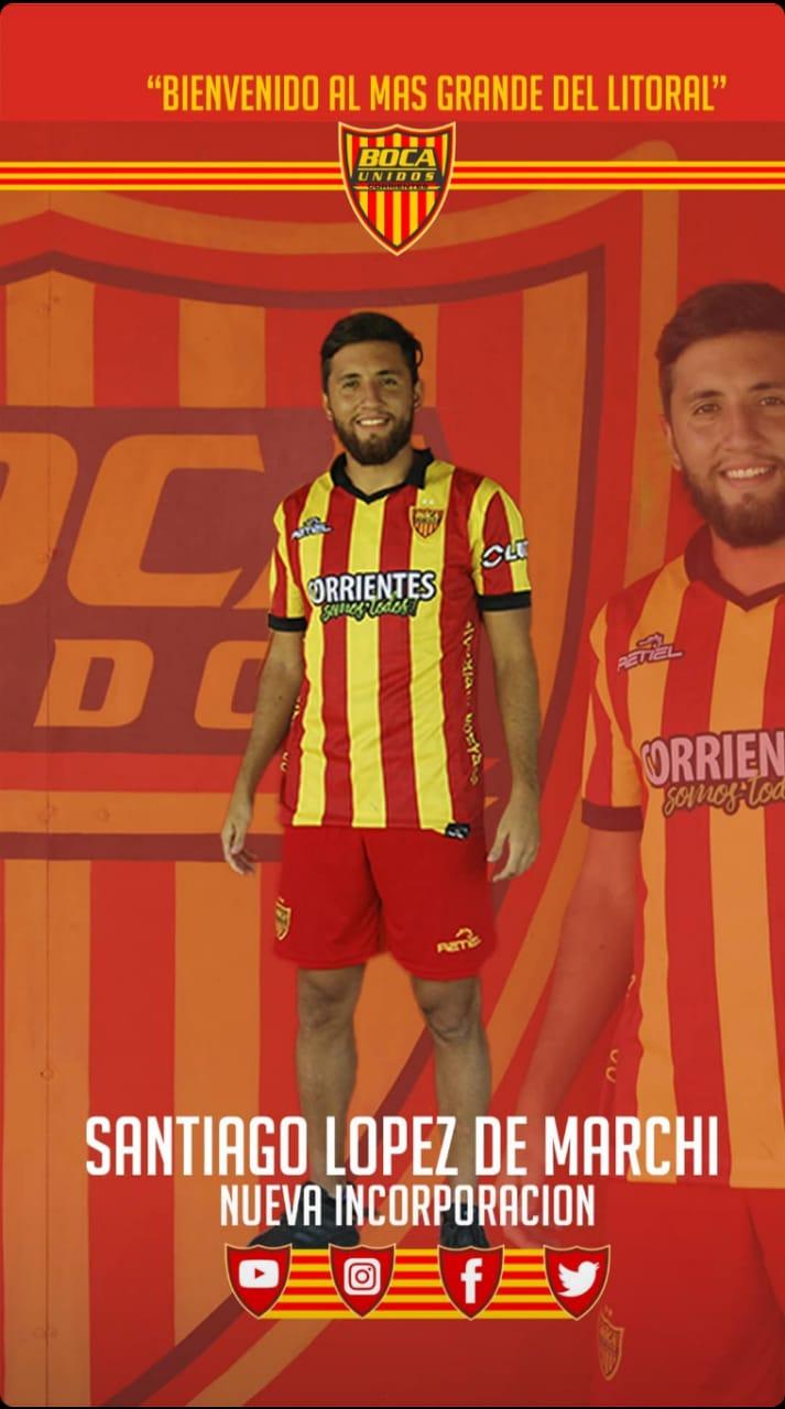 Santiago López fue confirmado como nuevo refuerzo de Boca Unidos