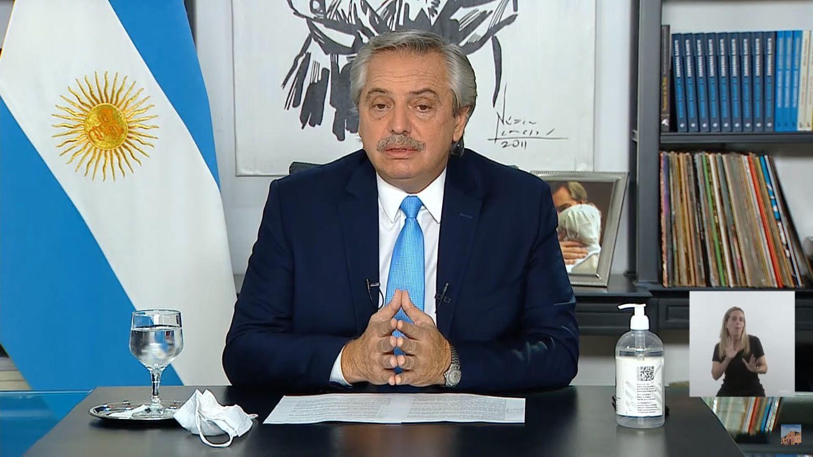 Alberto Fernández anuncio nuevas medidas restrictivas