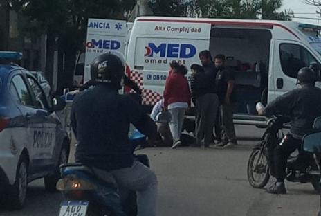La Carlota: Dos personas involucradas en un accidente entre un auto y una moto