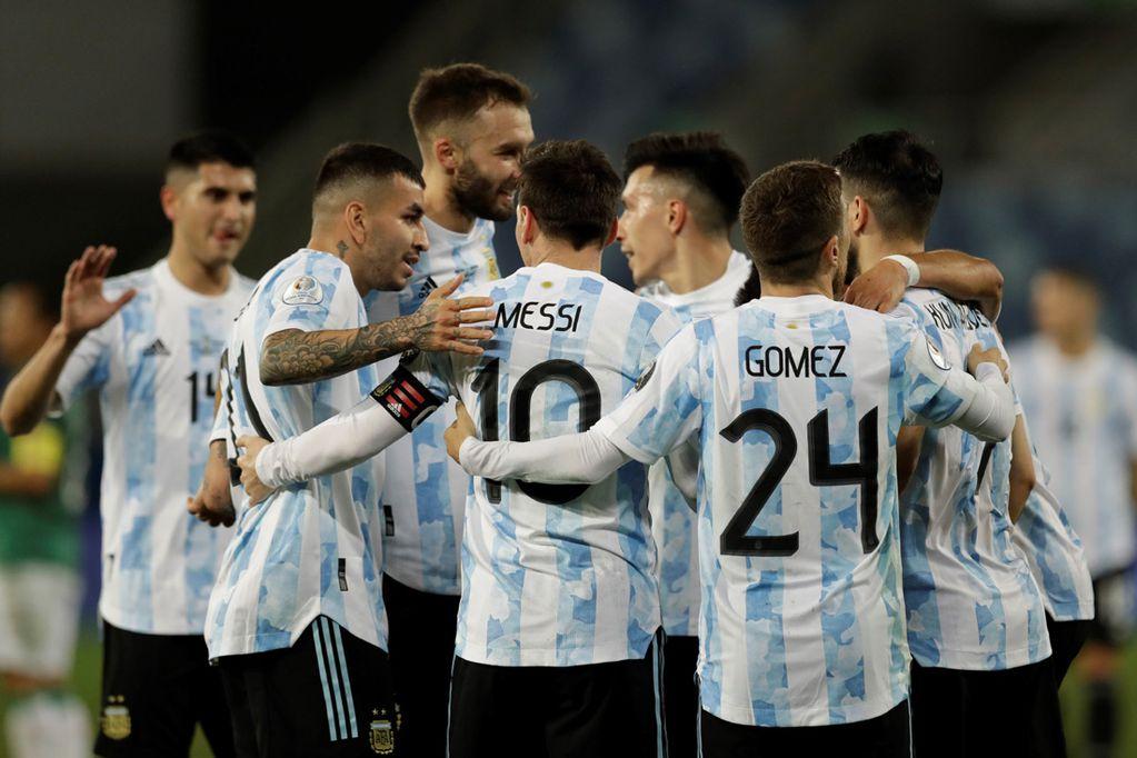 Copa América: Argentina le ganó 4-1 a Bolivia, y termino líder en su zona