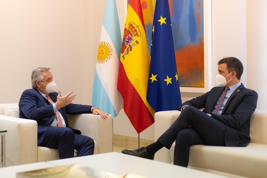 Alberto Fernández recibe a Pedro Sánchez para fortalecer las relaciones entre Argentina y España