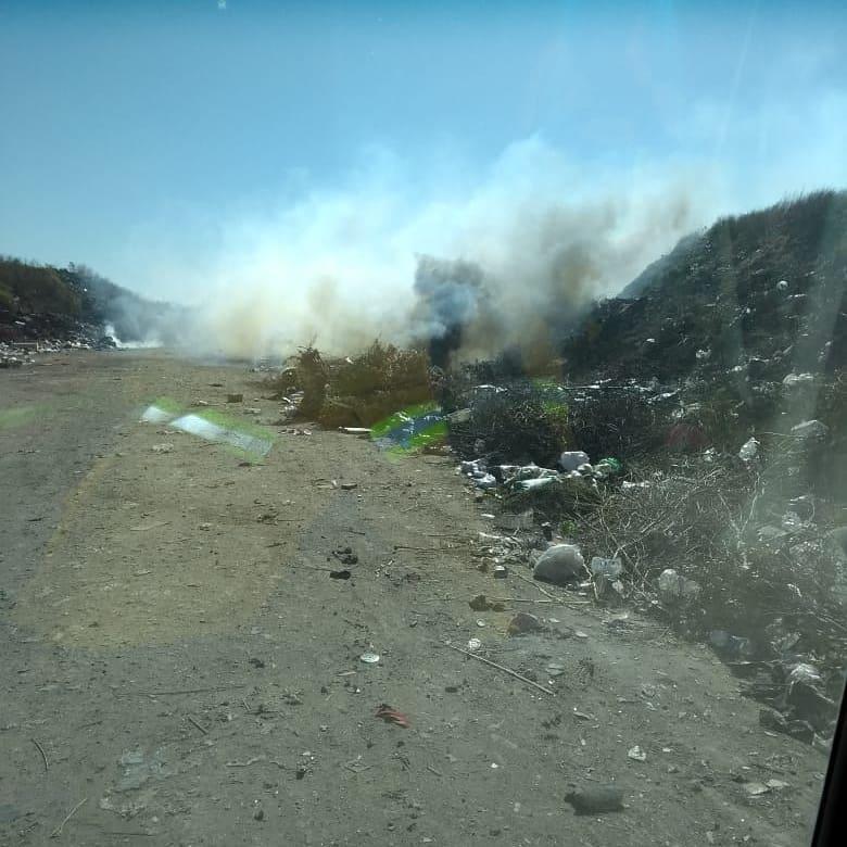 Bomberos Voluntarios debieron sofocar un nuevo incendio en el Basural Municipal de La Carlota