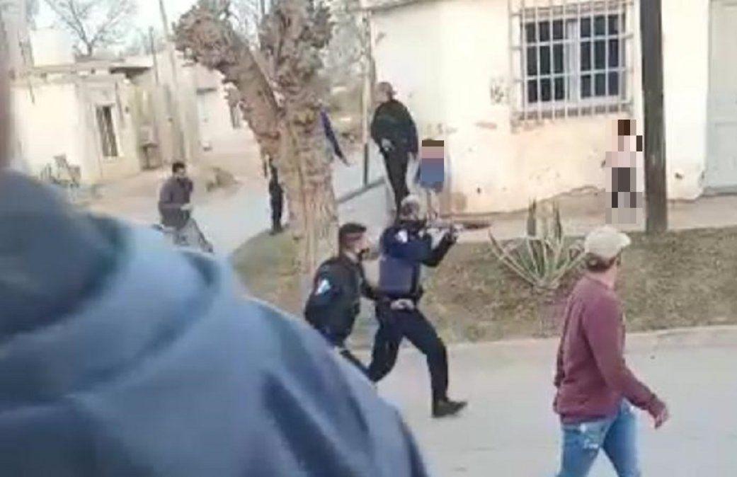 Tumultos, disparos y persecución en un barrio de Villa Nueva