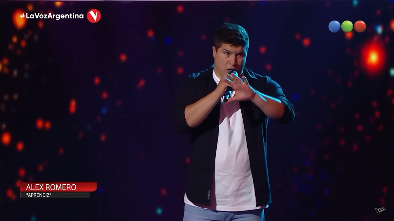 El cantante carlotense Alex Romero pasó por La Voz Argentina