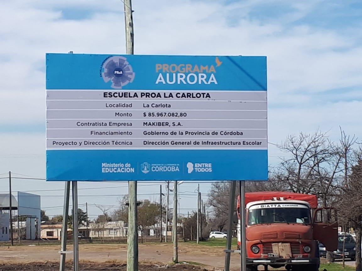 Concejales de 'Crecer por La Carlota' presentan un pedido de informe para conocer detalles sobre la obra de la Escuela Proa