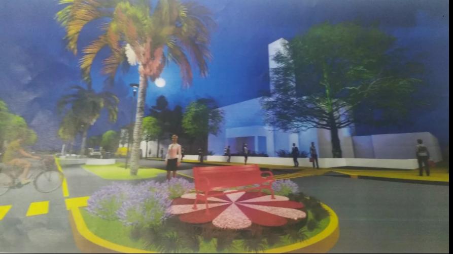 El «Banco Rojo» de La Carlota será instalado frente al palacio municipal
