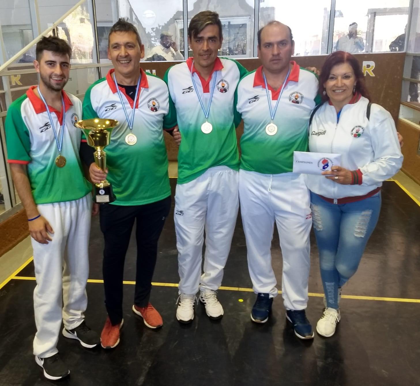 Bochas: el equipo de Juárez Celman se coronó campeón provincial